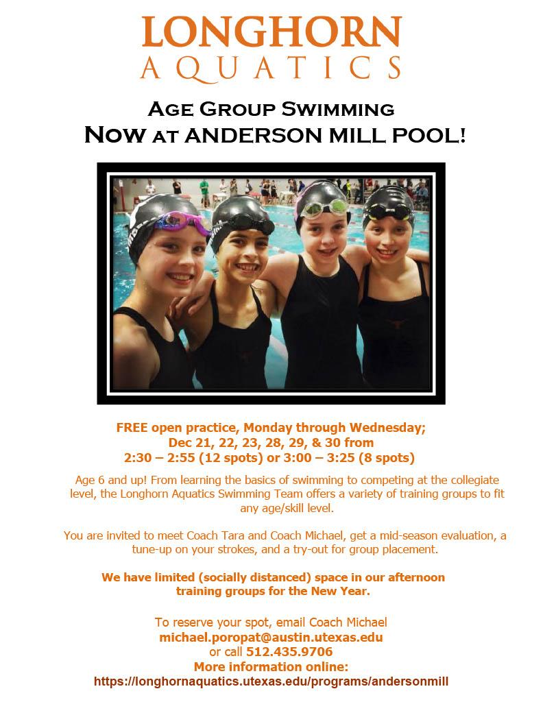 TXLA Anderson Mill Winter Swim Series