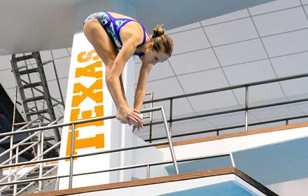 longhorn girl diving - mid air hasn't left board